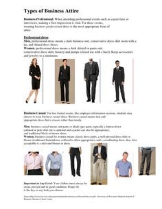 Professional dress vs. business casual dress