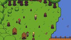 New screenshot! Keltoi's lumberjacks are taking a much deserved lunch break.  Find more info about 2D RPG Towards The Pantheon at http://www.towardsthepantheon.com   #indiegame #gamedev #pixelart #screenshot #videogames #leveldesign #gamemaker #gamedevelo