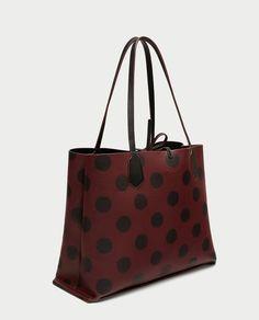 Image 3 of REVERSIBLE POLKA DOT TOTE BAG from Zara
