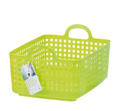 Like-it SCB-7 Plastic Laundry Basket, 9.96-Inch H by 13.98-Inch W by 17.91-Inch D, Green by Like-It. $17.00. Made in Japan. Portable and easy to carry. Stackable with SCB-6 basket. 9.96-Inch H by 13.98-Inch W by 17.91-Inch D. Durable plastic. This basket organizer is a fantastic solution for in the kid's room, laundry room, closet, or utility room. Stackable with our SCB-6 basket.