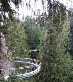 Cliffwalk at Capilano Suspension Bridge, Vancouver, British Columbia (http://www.capbridge.com/specialevents.php).