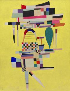 Collection Online | Vasily Kandinsky. Yellow Painting (La Toile jaune). July 1938 - Guggenheim Museum