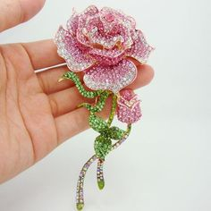 Find More Brooches Information about Beautiful Rhinestone Fashion Jewelry Rose Bud Gold Plate Pink Rhinestone Crystal Brooch Pin Free shipping For Woman,High Quality jewelry magnet,China pin dimm Suppliers, Cheap jewelry imported from china from TTjewelry on Aliexpress.com