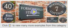 Rustic slate style House Signs - available in 4 plaque sizes - suitable for house numbers, house names or house address sign with number & street name House Address Sign, House Plaques, House Names, House Signs, Street Names, Rose Cottage, Rustic Signs, Slate, Home Decor