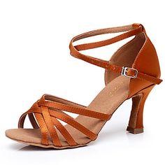 Non Customizable Women's Dance Shoes Latin/Yoga/Dance Sneakers/Modern/Swing Shoes/Standard Shoes Suede Cuban Heel 4312749 2016 – $19.99