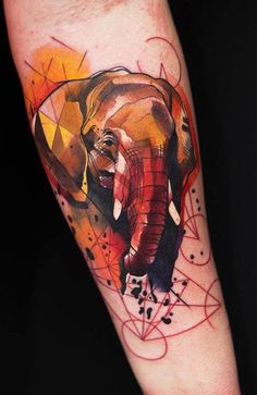 onto my other obsessions ... watercolor tattoos elephants and sacred geometry... stunning!!!!!