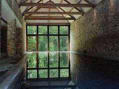 Cowshed Spa at Babington House 'Babington's low-slung brick and glass spa, - The Independent