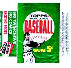 1962 Topps Baseball Cards Wrapper