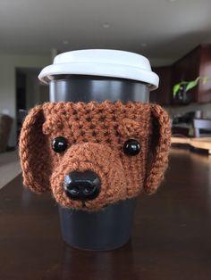 Dachshund, Doxie, Wiener Dog Mug/Cup Cozy, Custom Dog Cozy  hookedbyangel.etsy.com