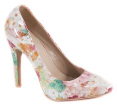 Pantofi cu toc - Pantofi multicolor cu toc 51760M - Zibra