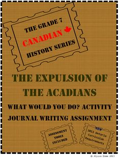 Grade 7 Canadian History, TPT product. Assignment comes with research chart, point of view journal activity, and opinion activity. Meets the new 2013 Ontario Curriculum guidelines for Grade 7 History.
