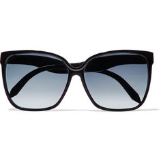 Victoria Beckham Square-frame acetate sunglasses (€250) ❤ liked on Polyvore featuring accessories, eyewear, sunglasses, gradient lens sunglasses, heart shaped sunglasses, heart shaped glasses, oversized heart shaped sunglasses and acetate sunglasses