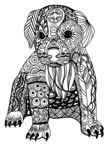 338 Best Adult Coloring Pages Images Dog Coloring Page Dogs