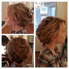 Romantic updo  Wedding hair