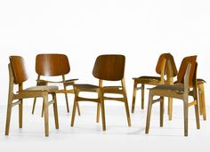 Børge Mogensen dining chairs, set of six