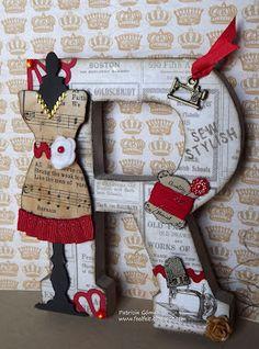 Perfil   Yuddish   Letra R con decoración costuril