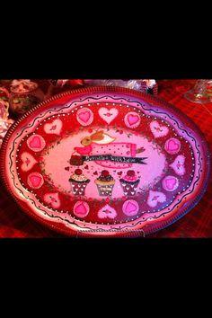 Sprinkled with Love tray, Lisa Stuckey 2013