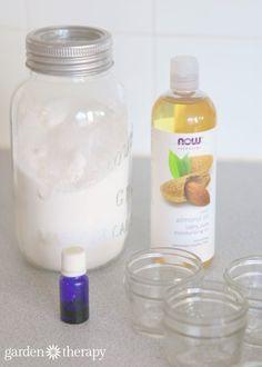 Homemade sugar scrub ingredients