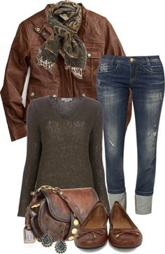 A fashion look from December 2012 featuring brown shirts, lightweight jackets and Killah. Browse and shop related looks. Casual Outfits, Cute Outfits, Fashion Outfits, Fall Winter Outfits, Winter Fashion, Comfy Casual, Complete Outfits, Everyday Fashion, Passion For Fashion