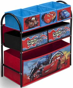 Organizador de juguetes #Cars #Disney ideal para el uso de almacenamiento de juguetes #bainba # organizador #dejuguetes