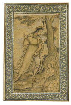 Tobias and the Angel, attributable to Manohar, Mughal, circa 1610