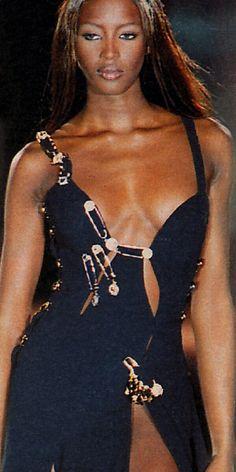 Naomi Campbell at Versace 1992