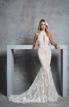 Wedding Dress Mermaid Lace, Light Pink Wedding Dress, Boho Wedding Dress With Sleeves, Wedding Dress Prices, Ivory Lace Wedding Dress, Mermaid Dresses, Dream Wedding Dresses, Designer Wedding Dresses, Bridal Dresses
