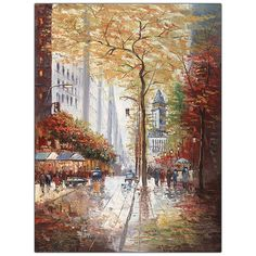 French Street Scene II by Joval-Canvas Art Ready to Hang!
