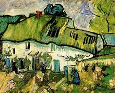 Vincent can Gogh: Farmhouse with Two Figures