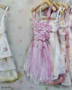 Ready to Frame Print - Party Dresses - Postage is included Worldwide