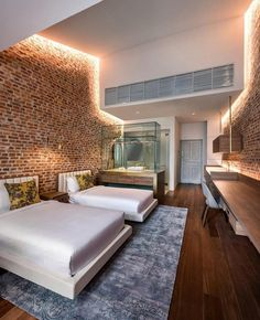 Loke Thye Kee Residences is situated in the heart of Georgetown Penang, one of 5 Malaysian UNESCO world sites rich in heritage. MOD's design draws inspiration from this heritage and specifically the historic Loke Thye. House Design, Hotel Interior Design, Hotel Room Interior, Hotel Interiors, Hotel Inspiration, Bedroom Hotel, House Interior, Hotel Room Design, Hotels Design
