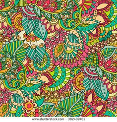 Abstract vector decorative ethnic floral colorful .Seamless pattern can be used for wallpaper, pattern fills, web page background,surface textures. Gorgeous seamless floral background