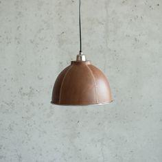 Hanglamp bruin leer, klein
