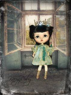 Blythe Girls Vintage Chiffon Dress 19th Century by KarynRuby
