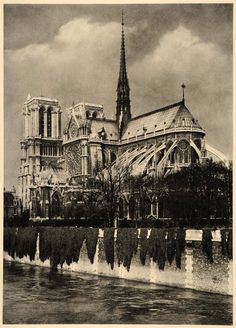 Notre Dame de Paris cathedral, France, 1937 byMartin Hürlimann // it's nice to know some things don't change :)