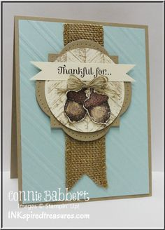 Love the warm textures and colors of this card.
