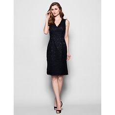Mother of the Bride Dress Knee-length Sleeveless Lace Sheath/Column Dress – USD $ 99.99