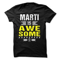 MARTI is Awesome - #slogan tee #cute sweatshirt. LOWEST PRICE => https://www.sunfrog.com/Names/MARTI-is-Awesome.html?68278