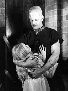 "Veronica Carlson and David Prowse in ""The Horror of Frankenstein"" directed by Jimmy Sangster. Scary Movies, Old Movies, Horror Movies, Hammer Horror Films, Hammer Films, Dave Prowse, The Modern Prometheus, Victor Frankenstein, Frankenstein's Monster"
