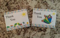 Printable Hungry Caterpillar Thank you Cards by msmemories101