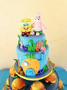 Spongebob cake Cupcakes, Cupcake Cakes, Cartoon Cakes, French Cake, Character Cakes, Sweets Cake, Just Cakes, Novelty Cakes, Cake Decorating Tips
