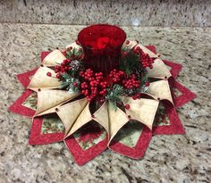 Fold and Stitch Wreath