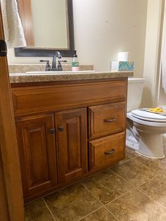 """This week I've been painting my bathroom cabinets. I'm here to tell you that this doesn't have to be a scary undertaking. It can be easy, look professional and you can avoid brush strokes!Below I've laid out a quick """"How to Paint Bathroom Cabinets"""" tutorial. Here's the most important piece of advice I have for you: Don't skip any steps! I'm impatient so many times I want to skip steps like sanding and just get the job done. Don't do it. Follow the steps to get a perfect finish on your… Bathroom Cabinet Redo, Redo Kitchen Cabinets, Painting Bathroom Cabinets, Paint Bathroom, Painted Bathroom Vanities, Bathroom Ideas, Do It Yourself Home, Paint Furniture, Diy Home Improvement"""