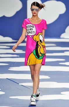 Jean-Charles de Castelbajac at Paris Fashion Week Spring 2009 Pop Art Fashion, Vogue Fashion, Fashion Week, Colorful Fashion, Runway Fashion, Fashion Show, Paris Fashion, High Fashion, Robes Disney