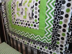 Custom Order Giraffe Baby Quilt Set by QuiltingThyme on Etsy, $29.00+@Stephanie Sunshine
