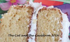 The Cat and the Cauldron: Pinterest Project #61 and #62 Whipped Butter cream frosting and Vanilla Cake YUMMY