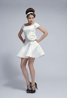 57c52bb2580 Short Wedding Dress - Tobi Hannah Croseta Dress Kind of fun.