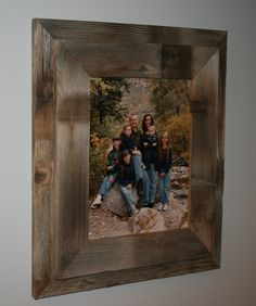 11x14 Double Barn Wood Picture Frame on Etsy, $21.25