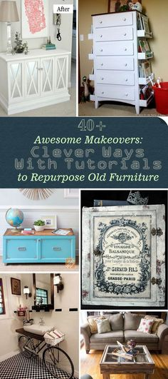 Awesome Makeovers: Clever Ways With Tutorials to Repurpose Old Furniture!