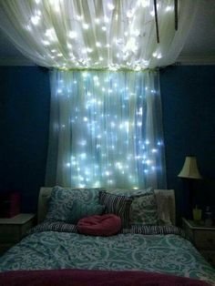 Room Decorating ❤️ #lights #tumblr #teenroom #bedroom #redecorating #blue